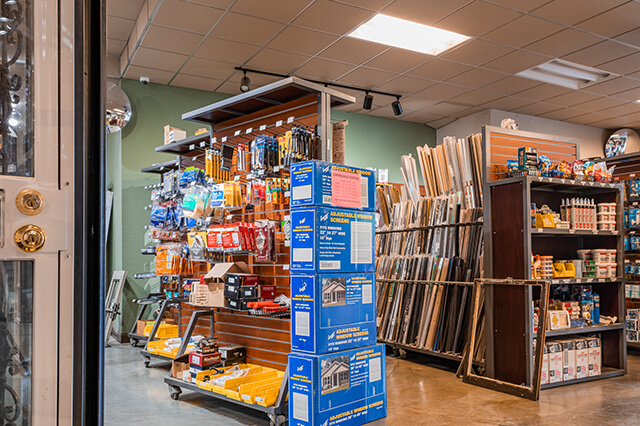 Trim, weatherstripping and other window and door accessories for sale in Milwaukee store