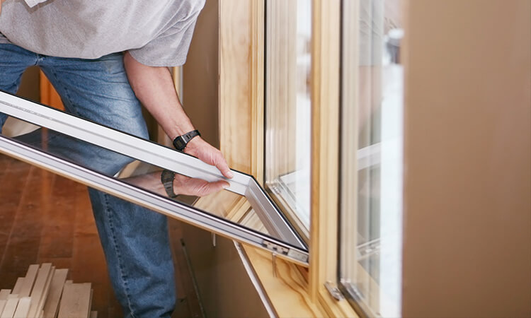 Double-hung window installation service